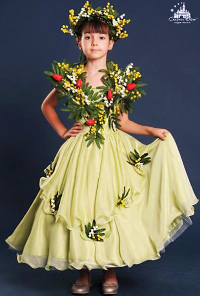 """Прокат. Детский карнавальный костюм, платье """"Весна с ... - photo#20"""